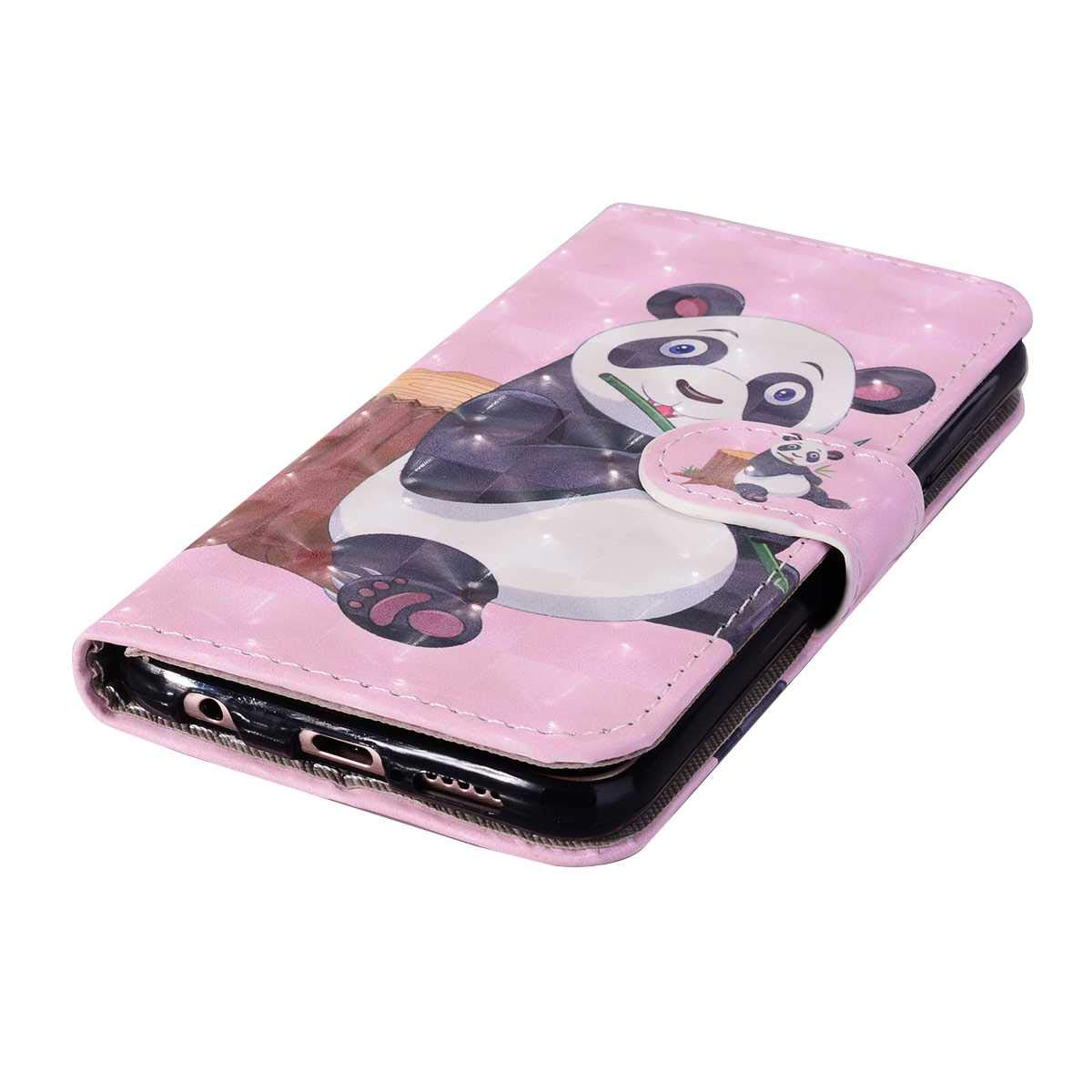 Purple Flip Magnetic Case with Card Holder and Hand Strap DENDICO ...
