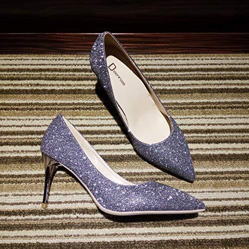 Boca De Gris Silver Tacones Gray Salvajes Hhgold Corte Mujer Altos Tamaño color 10cm 39 41 Puntiagudos Baja Zapatos Con 5wqn4Zn1z
