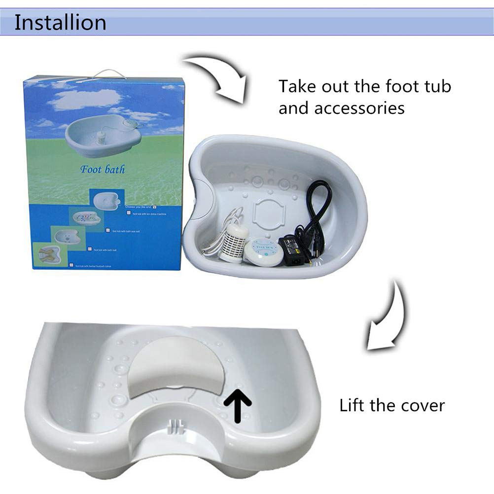 Desintoxicación iónica Célula de baño para pies Masajeador ...
