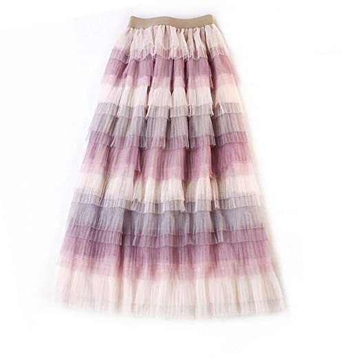 Falda de mujer Falda de malla en contraste de color para mujer ...