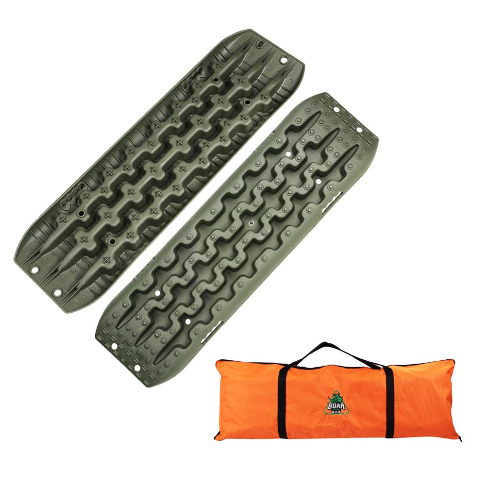 Boar Offroad New Recovery Traction Tracks Sand Mud Snow Track Tire Ladder 4WD (Olive Green) by OFF ROAD BOAR
