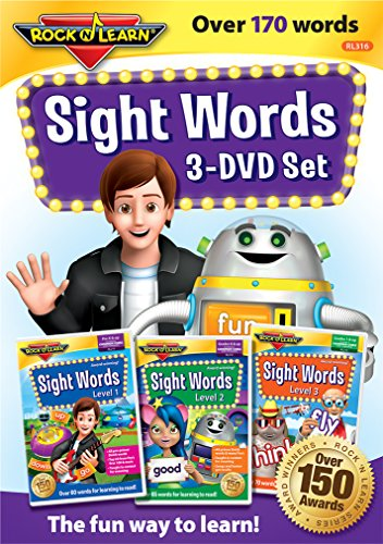 Action Words Dvd - Sight Words 3-DVD Set by Rock 'N Learn: Over 170+ words includes all pre-primer, primer, and first grade Dolche words plus many Fry words