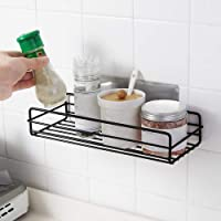 HOME CUBE 1 Pc Multipurpose Kitchen Bathroom Metal Shelf Wall Holder Storage Rack Corner Shelf Storage Box Strong Magic Sticker Shower Rack Self