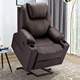 Esright Electric Power Recliner Lift Chair Faux Leather Electric Recliner for Elderly, Heated Vibration Massage Sofa…