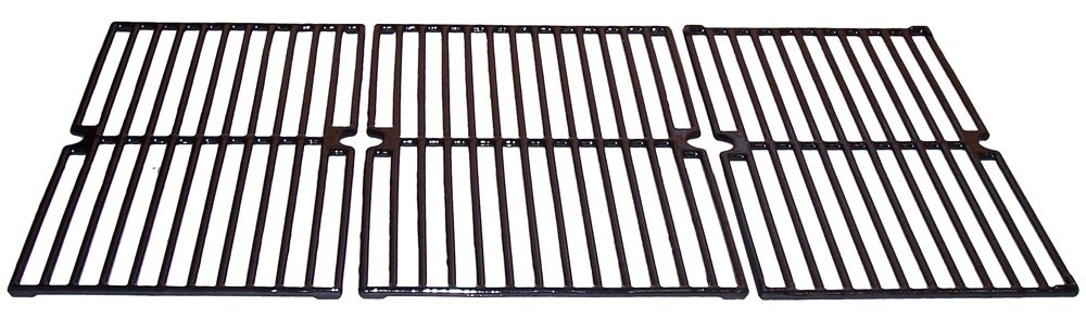 Music City Metals 67233 Gloss Cast Iron Cooking Grid Set Replacement for Select Brinkmann Gas Grill Models