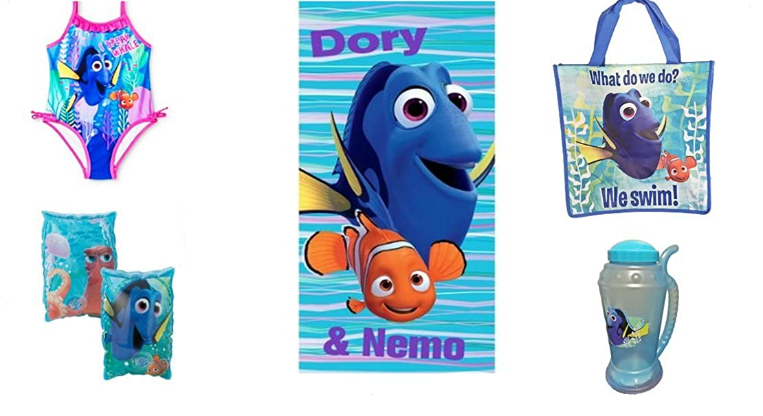 Disney Pixar Finding Dory Toddler Girls I Speak Whale Swimsuit PLUS Accessories