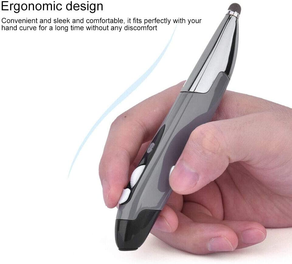 Color : Grey Support Voice Operation//Translation PR-06S 4-Keys Smart Wireless Optical Mouse with Stylus Pen Function