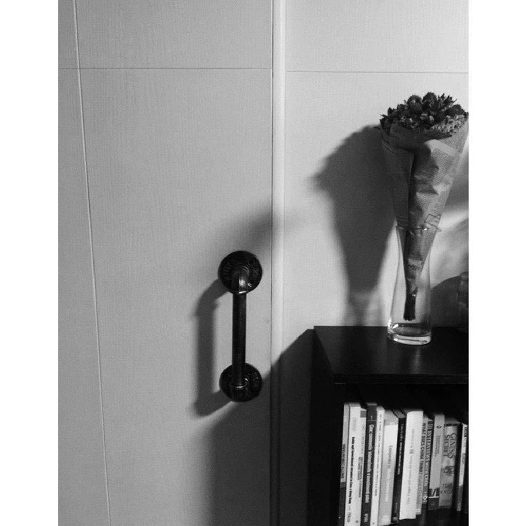 barandas de Escalera de tuber/ía de Hierro Antideslizante apoyabrazos de Hierro Forjado Negro tama/ño Personalizable OUG- Rieles de Seguridad para Interiores y Exteriores montados en la Pared