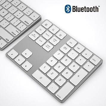 Teclado numérico Bluetooth,inalámbrico Bluetooth portátil 34 Teclas con múltiples accesos directos compatibles para computadora portátil Windows ...