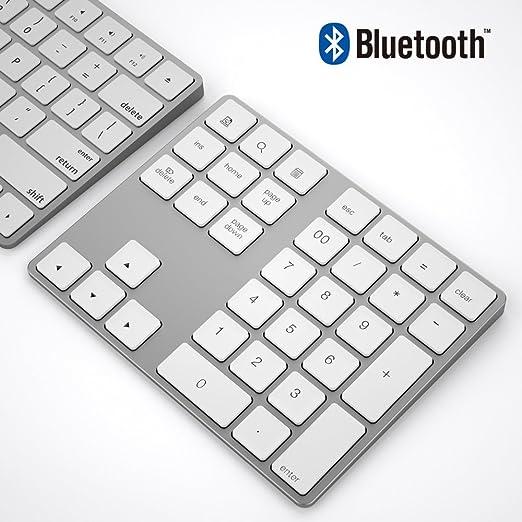 Teclado numérico Bluetooth, IKOS Teclado numérico externo Bluetooth de 34 teclas con múltiples accesos directos para computadora portátil Windows ...