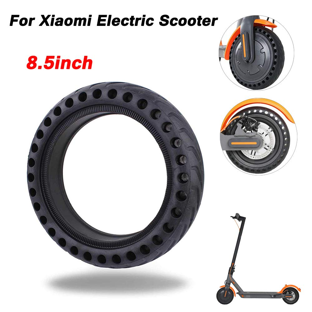 DDSKY Solid Tire Mijia Scooter Replacement Tire for Xiaomi Mi M365 / gotrax gxl V2, 8.5 inches Scooter Wheel's Replacement Anti Puncture Wheel Tire Front/Rear Tire Spare Honeycomb Tire by DDSKY