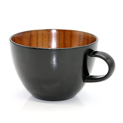 Amazon.com | Geeklife Natural Jujube Wood Big Coffee Mugs, Japanese ...