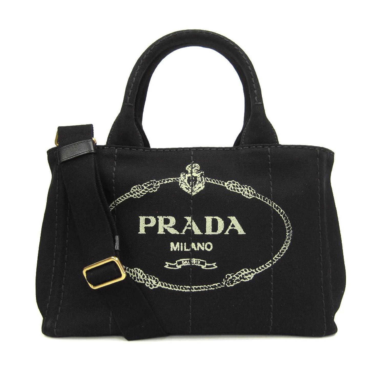 [プラダ] PRADA プラダバッグ カナパ キャンバス ロゴ トートバッグ 2WAY ショルダーバッグ 1BG439 CANAPA NERO [並行輸入品] B00NXKX416