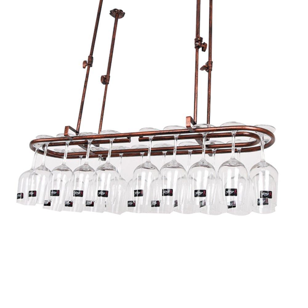 TLMY Home Goblet Shelf Bar Table Decoration Wine Glass Holder Hanging Cup Holder Hanging Cup Holder Wine rack (Color : Bronze, Size : 6025cm)