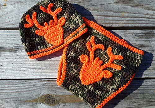 Newborn Camo & Orange Deer Diaper Cover Set (Hunter And Deer Costume)