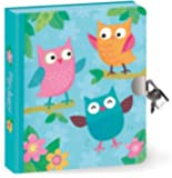"Peaceable Kingdom Owls 6.25"" Lock and Key, Lined Page Diary for Kids"