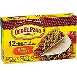 hard taco shells - Old El Paso Hard and Soft Taco Shells  12 ct 7.4 oz Box
