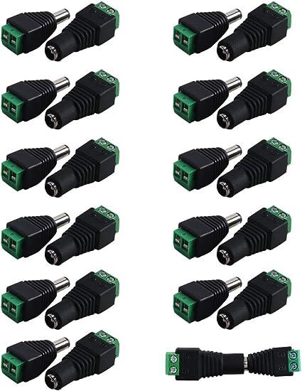 12 V DC Cavo di alimentazione 2.1x5.5mm spina maschio Jack Connettore per telecamere CCTV