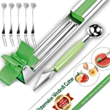 Watermelon Windmill Cutter Slicer- Stainless Steel Melon Cuber Cutting Tool for Cantaloupe,Super Easy/Fast Watermelon Knife,Perfect for Cutting Fruit Cubes,Must-Have Kitchen Gadget