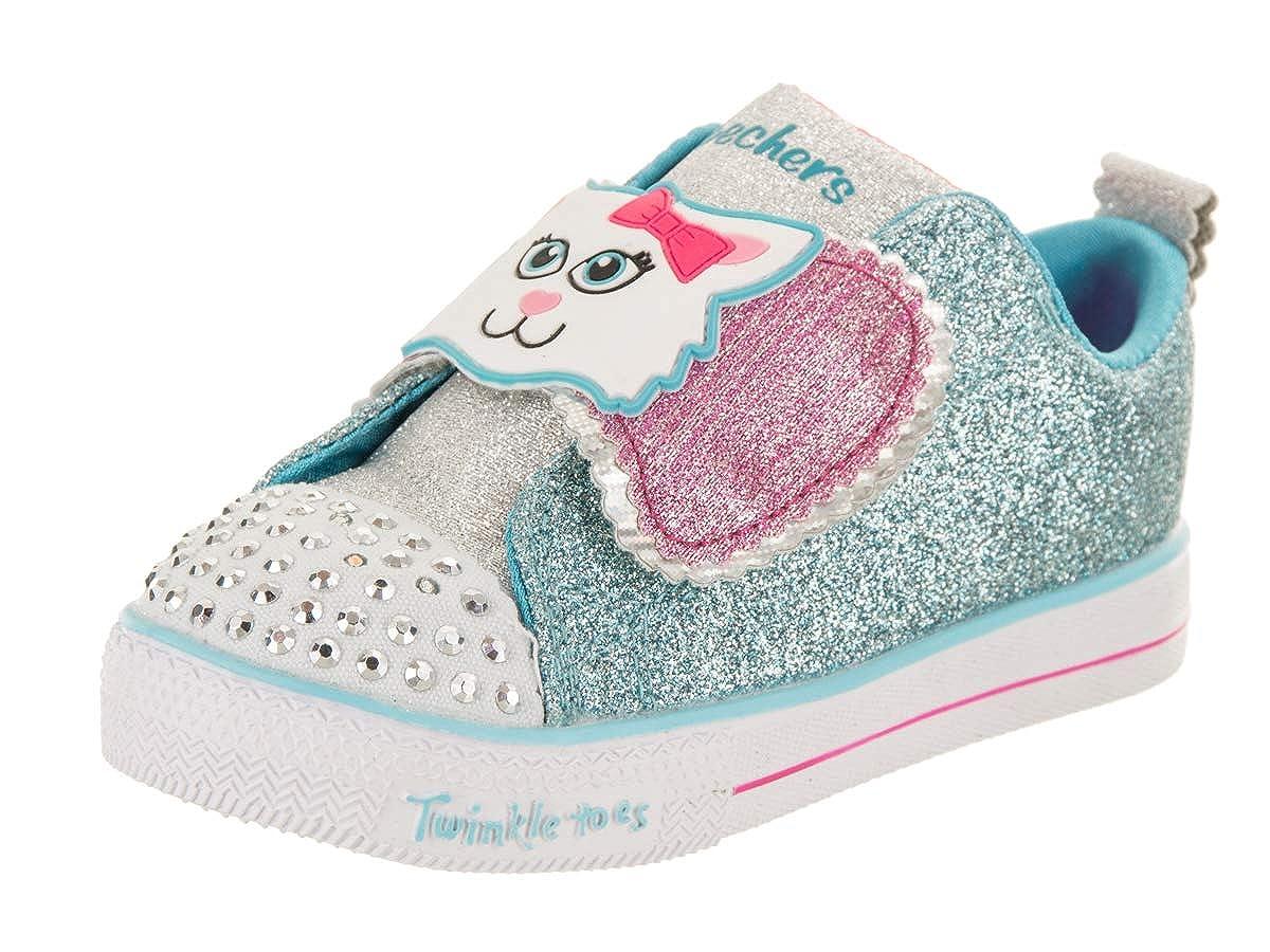Skechers Kids' Shuffle Lite-Sparkle Pas Sneaker,