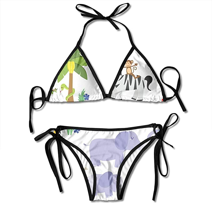 d663e3eea160 Conjunto de Bikini Atractivo de la Mujer Animal búho Árbol Selva ...
