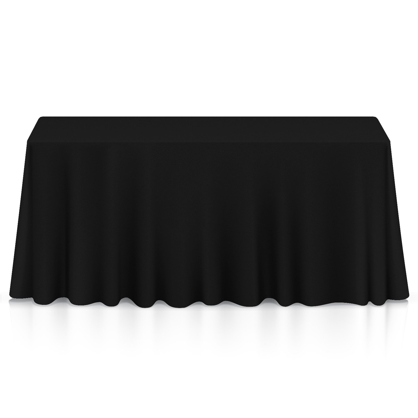Lanns Linens 20 Premium 60'' x 102'' Tablecloths for Wedding/Banquet/Restaurant - Rectangular Polyester Fabric Table Cloths - Black