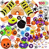 halloween decorations for kids JOYIN Over 100 Pieces Halloween Toys Assortment for Halloween Party Favors, School Classroom Rewards, Trick or Treating, Halloween Miniatures, Halloween Prizes