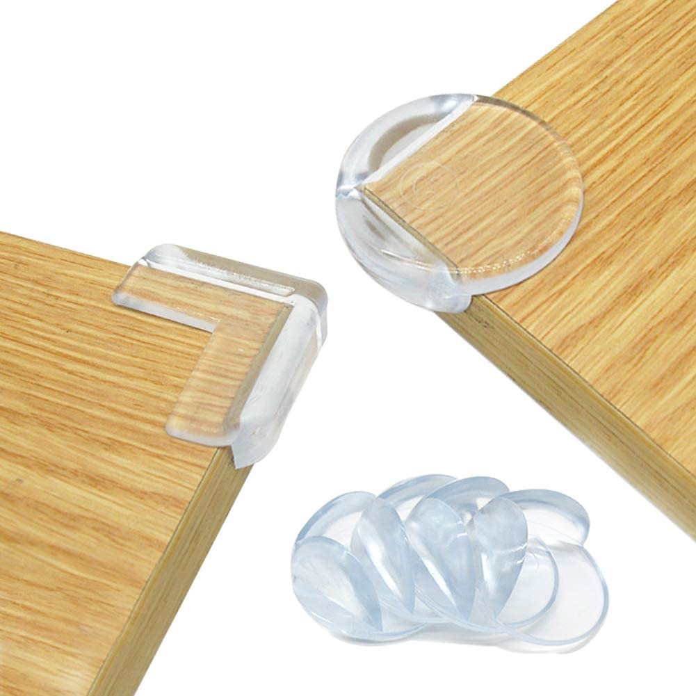 Deeram 30 Pack Clear Corner Protector Corner Guards with Strong Adhesive for Sharp Corners Baby Proofing L /& Ball Shaped