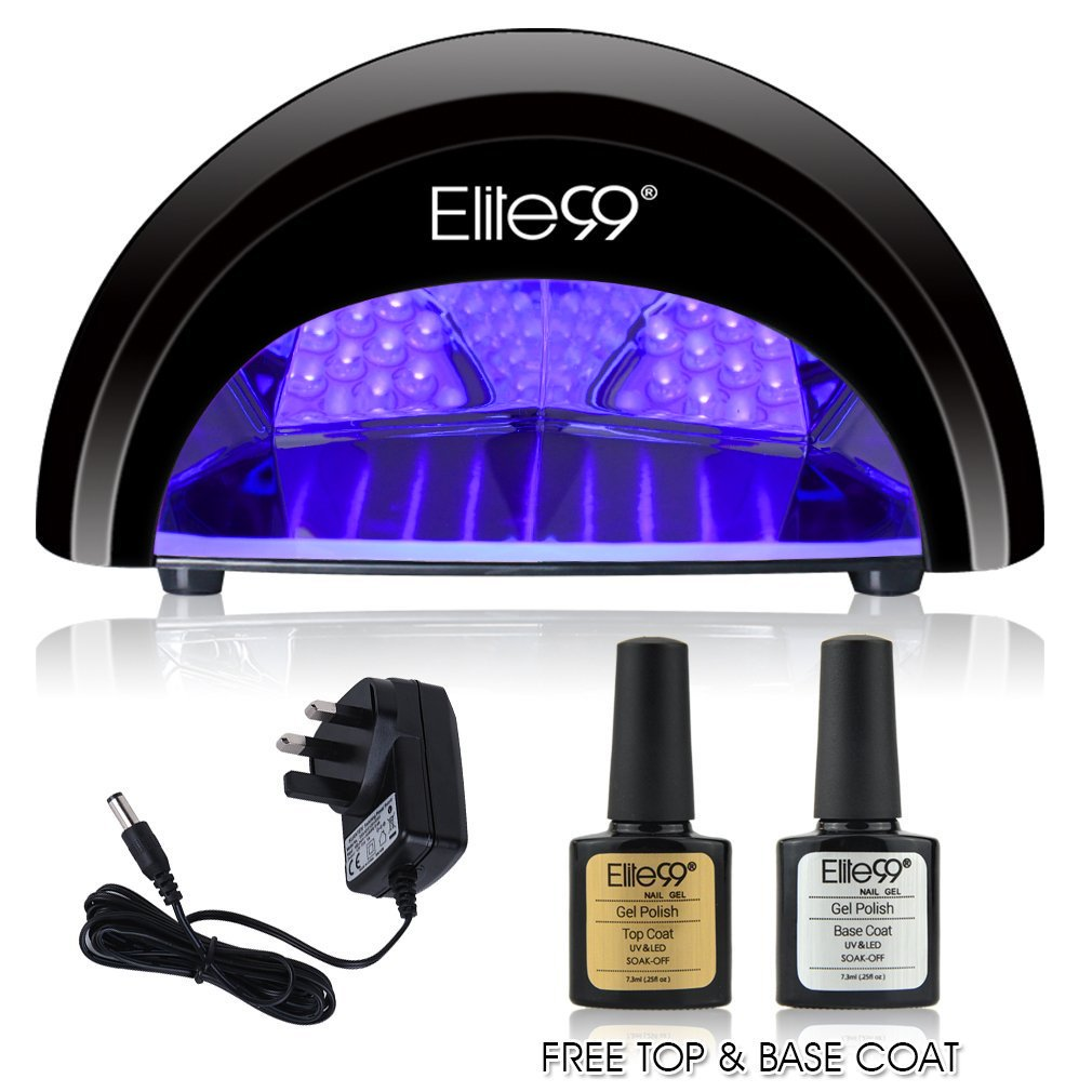 LED Nail Lamp Kit Elite99 12W Black Professional Dryer Machine Fast Curing Gel