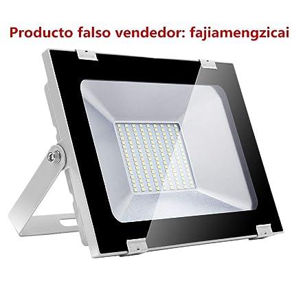 Yuanline Focos LED Exterior de Blanco Frío 100W 10000LM, 6000-6600k, Ultrafino y Ultraligero para Jardín, Garaje, Patio, Estadio, Fábrica, Almacén, ...