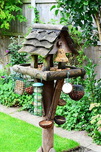 - Home Comforts Laminated Poster Bird Table Bird Food Feeder Feeding Station Garden Poster Print 11 x 17