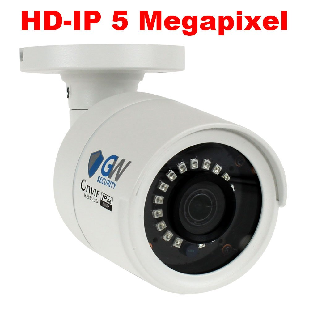 GW Security 5 Megapixel 2592 x 1920 Pixel Super HD 1920P Outdoor Network PoE 1080P Bullet Security IP Camera with 3.6mm Wide Angle Len by GW Security Inc (Image #3)