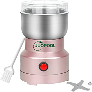 JuoPool Multifunction Smash Machine, Electric Salt and Pepper Grinder, Grinder for Grain, Coffee, Beans, Spices, Nuts, Herbs from Granule to Powder, Dry Food Rapid Mill, Fast Powder Maker(rose gold)