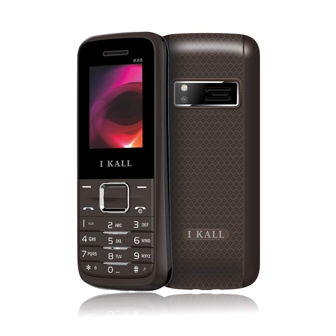 IKALL K88 Dual Sim Feature Phone, 64 MB Internal memory (Brown)