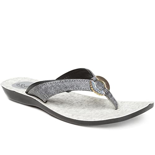 60b8b22da PARAGON SOLEA Women s Grey Flip-Flops  Buy Online at Low Prices in India -  Amazon.in