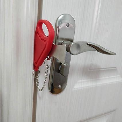 Amazon com: Forart Portable Door Lock, Travel Lock, AirBNB
