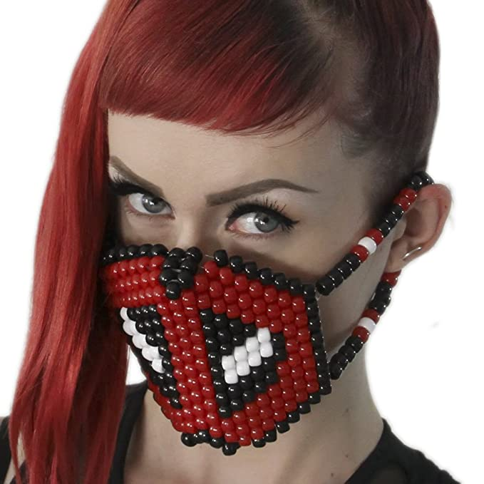 Kandi Gear Mascara Kandi Quirurjica de Deadpool, mascara kandi, pulcera de rave, mascara
