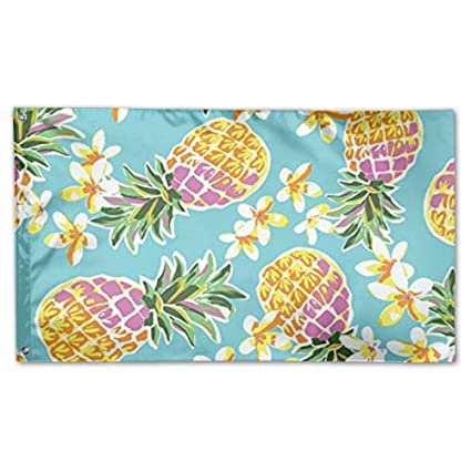 amazon com bihvlpa decorative yard flags home yellow pineapples