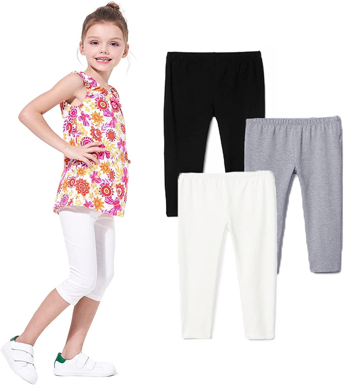 Felix & Flora Girls Leggings - Toddler Little Kids Capri Pants Summer School Dance