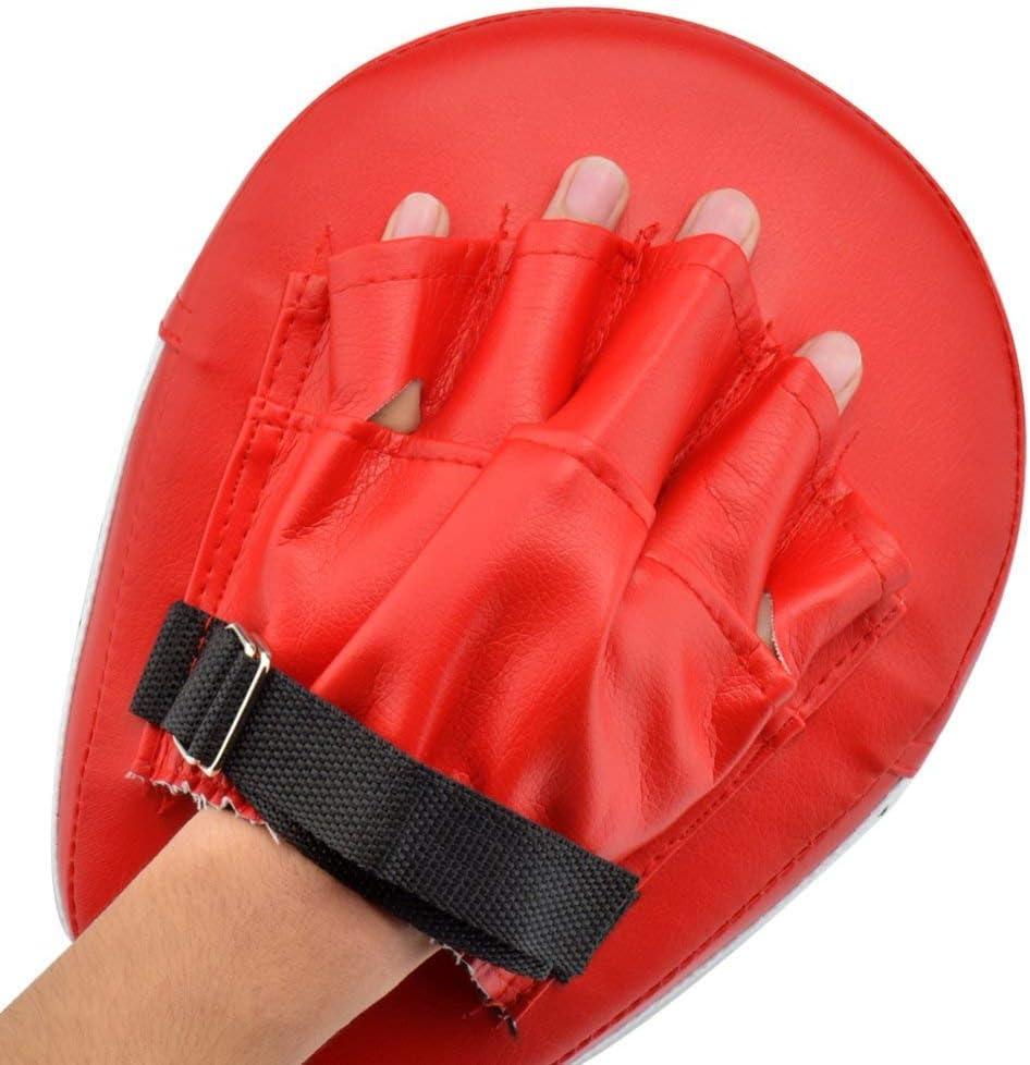 ATNKE 2 Pcs Boxing Pads Trainingshandschuhe PU Leder Punching Treten Palm Pad Haken /& Jab Strike Pads Ziel Mitt Handschuh f/ür Fokus Zug Von Karate//MMA//UFC