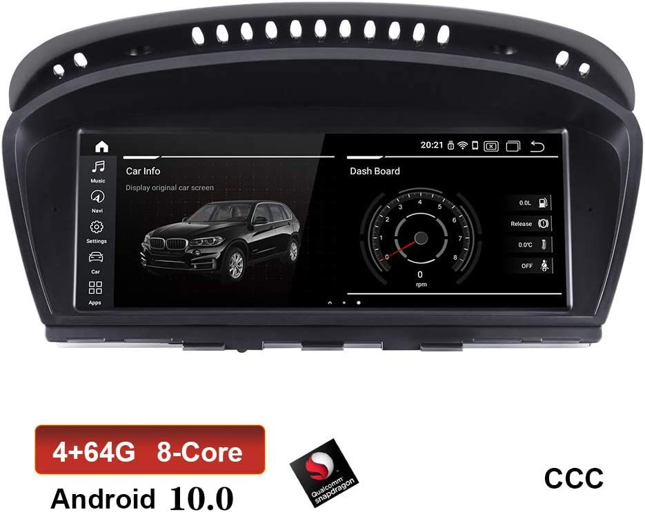 XISEDO 8.8 Inch Android 10.0 Car Radio RAM 4G ROM 64G Touch Screen Car Stereo Sat Nav Car GPS Navigation for BMW 5 Series E60 2005 2006 2007 2008 2009 2010 (E60 CCC)