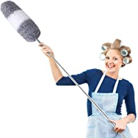 G-BRUSH Telescoping Duster, Extendable Microfiber Duster (30'' to 100'') Scratch-Resistant Cover, Bendable, for Cleaning…