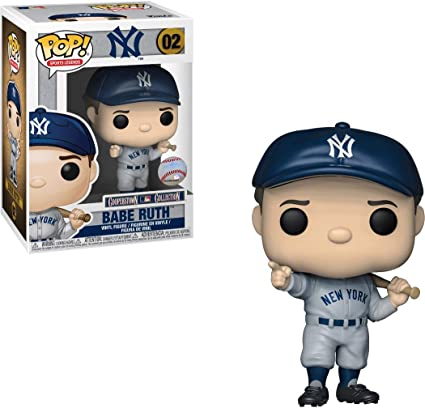 Funko Babe Ruth [NY Yankees] Pop Sports Legends Vinyl Figure & 1 Compatible Graphic Protector Bundle (38335 - B)