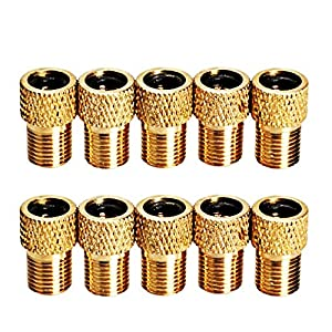 10 Pcs Converter Presta, Marrywindix Presta Schrader Bicycle Bike Valve Adaptor Tube Pump Tools