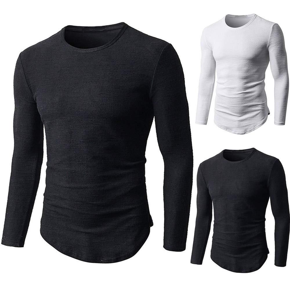 Camiseta musculosa de Hombre Blusa Lisa de algodón de Manga Larga, Recta, sin Mangas, Holgada por Internet: Amazon.es: Ropa y accesorios