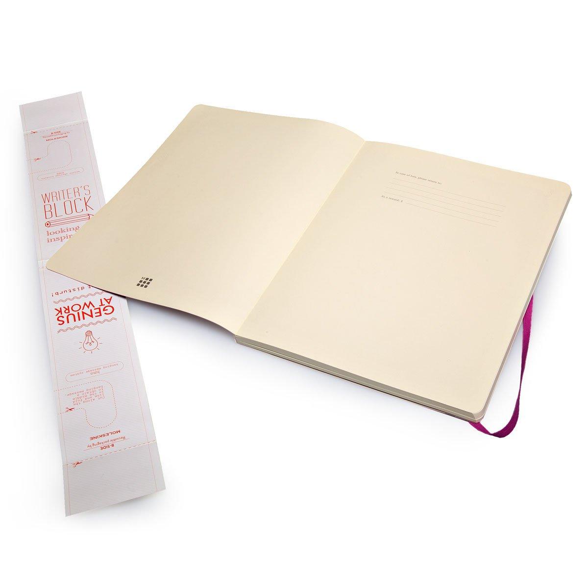 Moleskine Classic Notebook, Soft Cover, XL (7.5'' x 9.5'') Plain/Blank, Orchid Purple