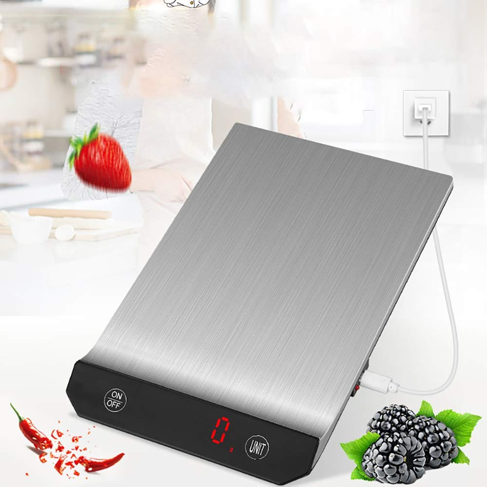 Básculas de cocina Pantalla LED Compacto Diseño Delgado ...