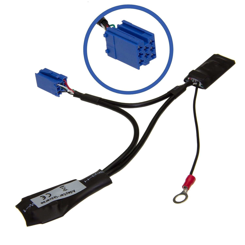 Adapter-Universe Car Radio Bluetooth interface adaptateur AUX 8pol Mini ISO pour Audi Navigation Plus 12Delta