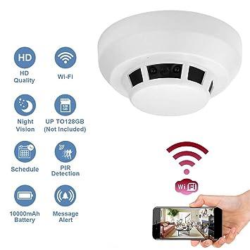 Buy Wi Fi 1080p Hidden Smoke Detector Camera Night Vision Motion