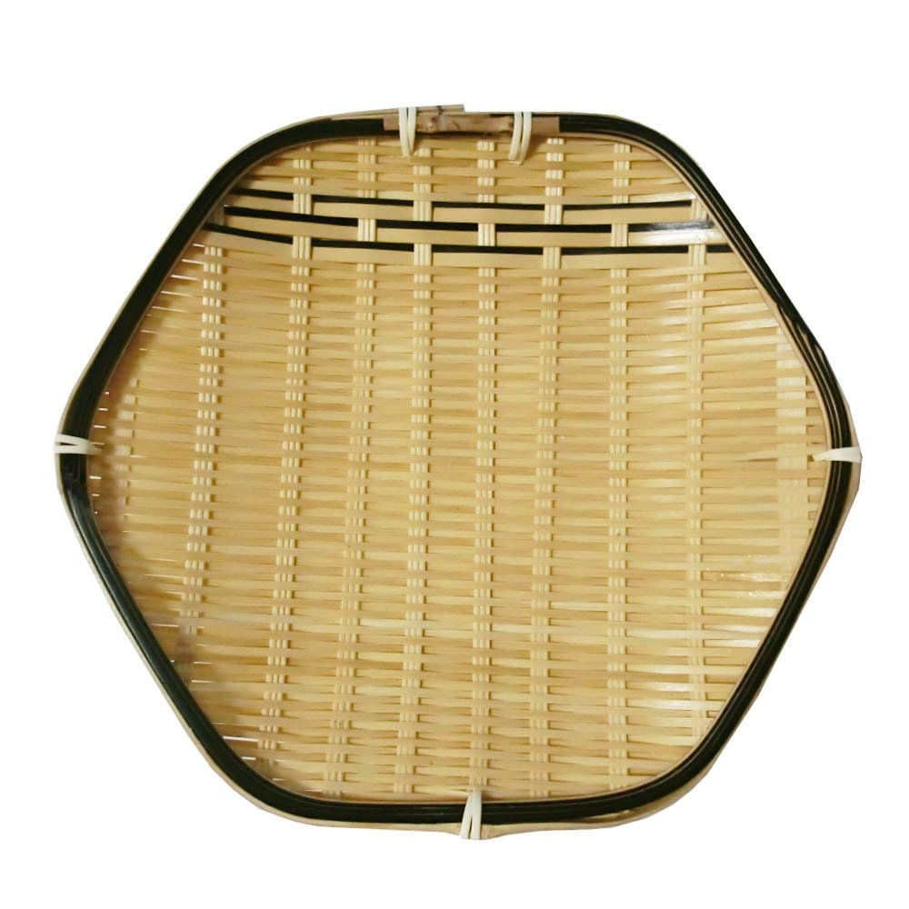 Zaru Bamboo Japanese Basket Dish Plate for Tempura Hex GuCra Japan Tempura Tray